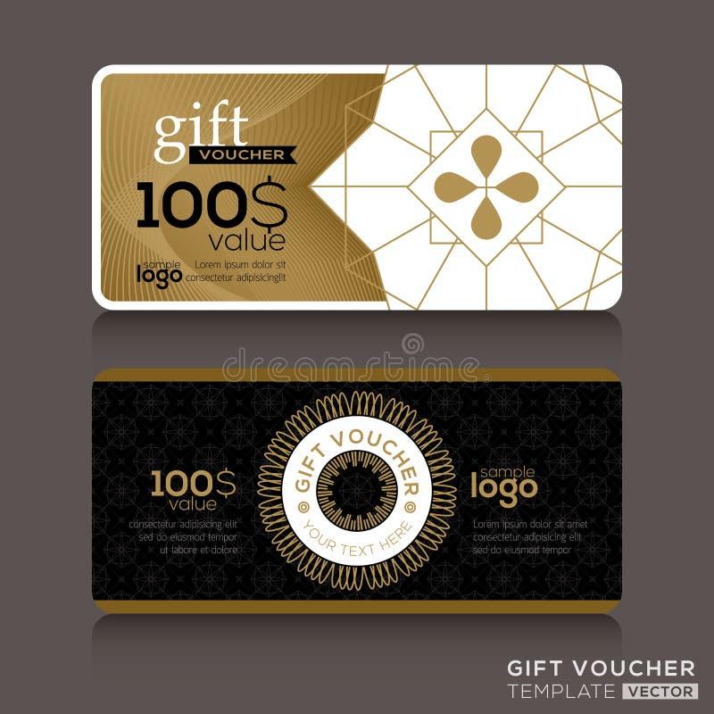 Calibre de bon de bon de chèque-cadeaux illustration stock