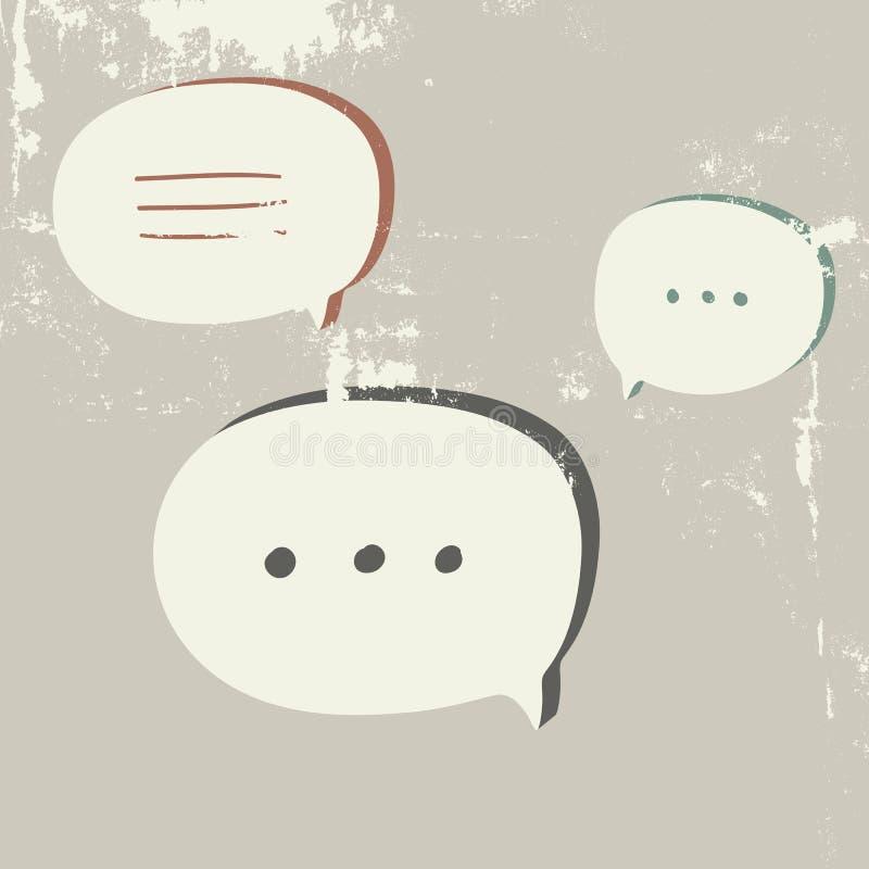 Calibre de bulle de la parole illustration de vecteur