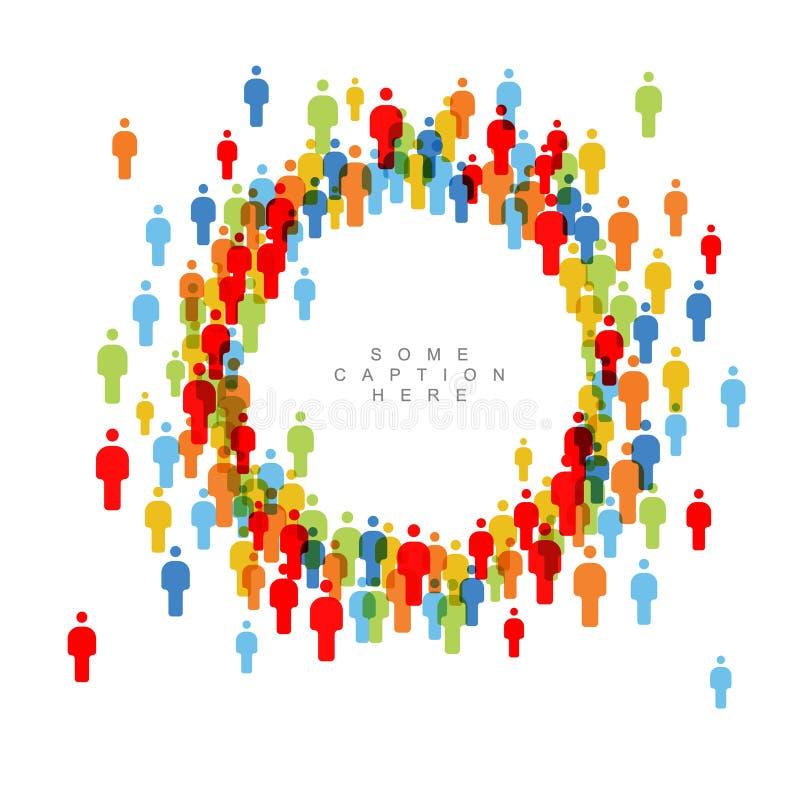 Calibre de cadre de cercle de foule de personnes illustration libre de droits