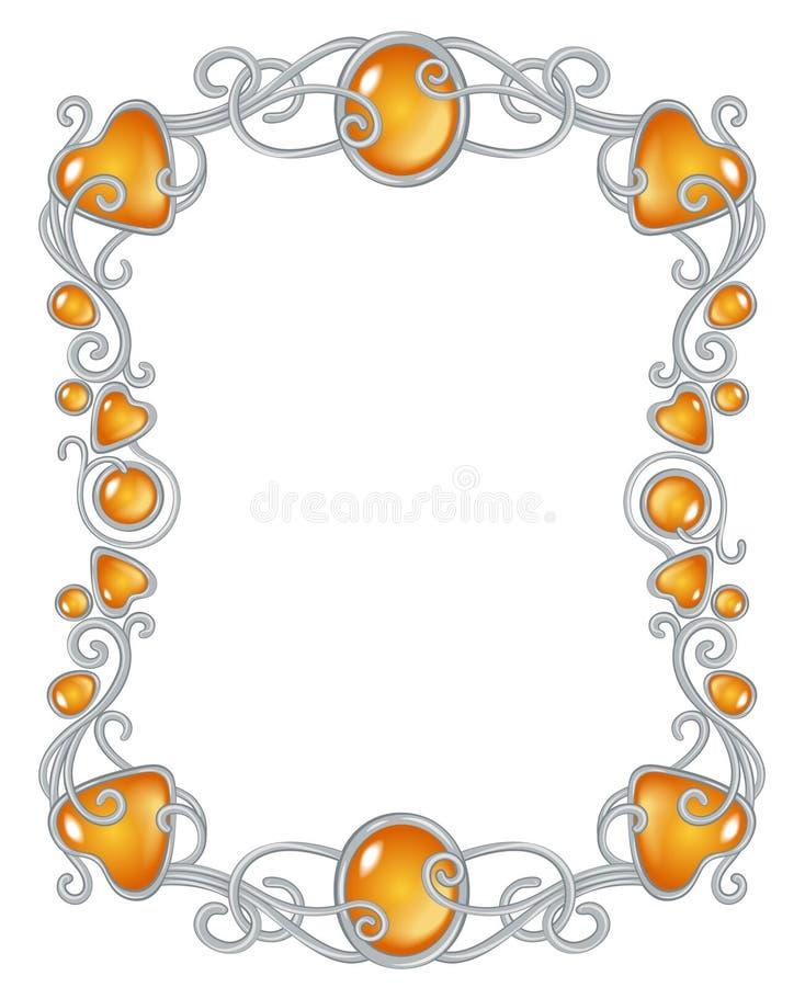 Calibre de cadre de bijou d'imagination illustration stock