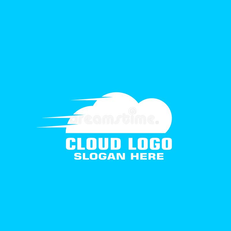 Calibre de calcul de concept de logo de nuage illustration de vecteur