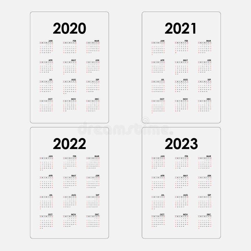 Calendrier Annuel 2021 2022 Calibre De Calendriers Du Calendrier 2020, 2021,2022 Et 2023