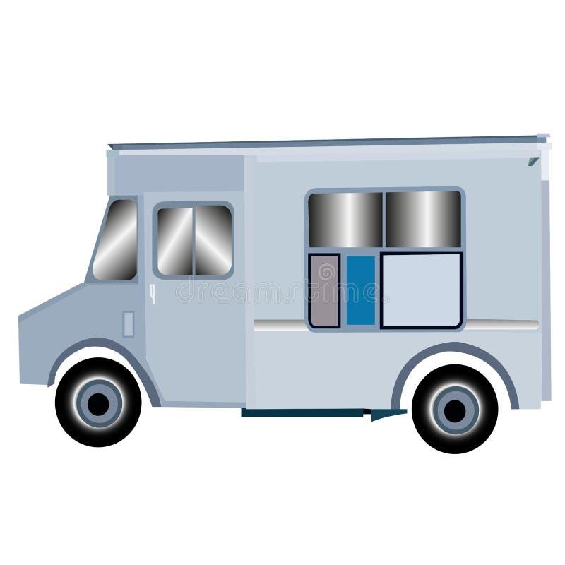 Calibre de camion de nourriture Crême glacée Van illustration libre de droits