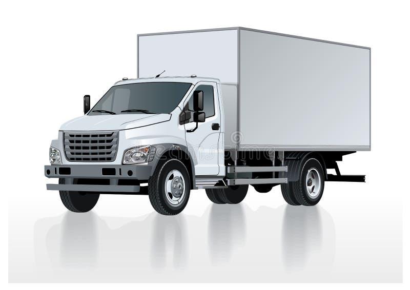 Calibre de camion de vecteur d'isolement sur le blanc illustration de vecteur