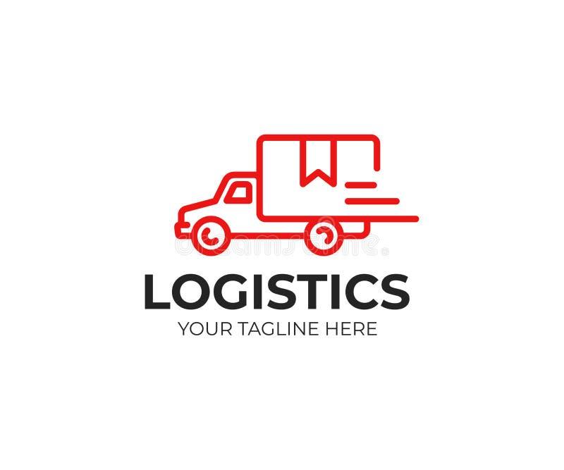 Calibre de camionnage de logo Conception rapide de vecteur de la livraison illustration stock
