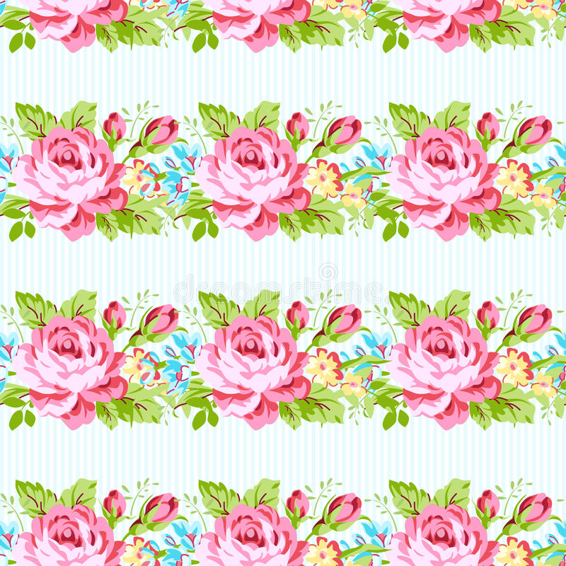 Calibre de carte avec des roses de rose de jardin illustration stock