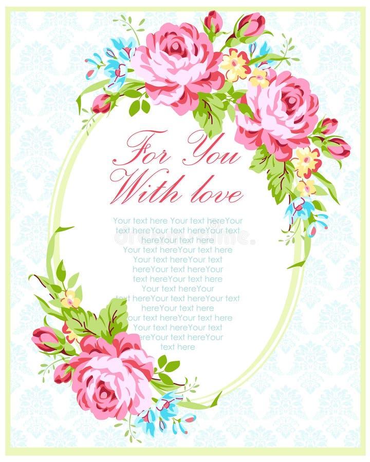 Calibre de carte d'invitation de mariage illustration stock