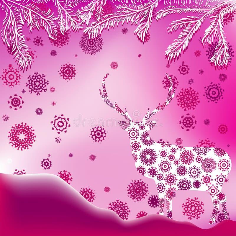 Calibre de carte d'invitation de Noël. ENV 8 illustration de vecteur