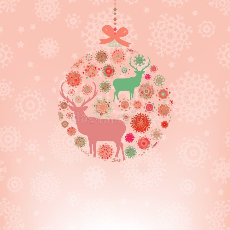 Calibre de carte d'invitation de Noël. ENV 8 illustration stock