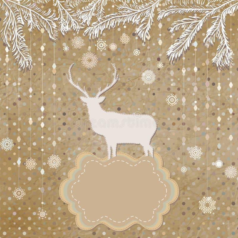 Calibre de carte d'invitation de Noël ENV 8 illustration de vecteur