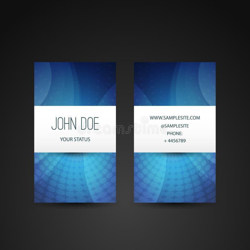 Calibre de carte de visite professionnelle de visite avec le modèle abstrait bleu illustration libre de droits