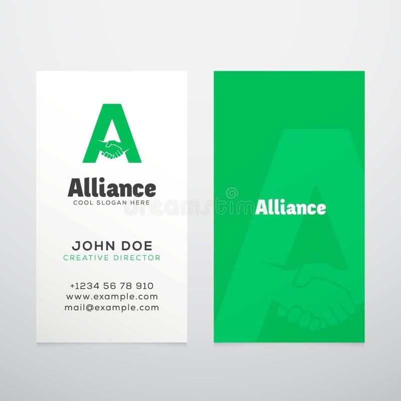 Calibre de carte de visite professionnelle de visite de vecteur d'abrégé sur Alliance illustration libre de droits