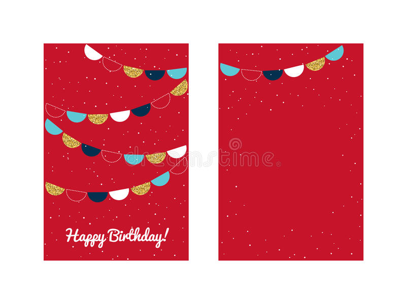 Calibre de carte de voeux de joyeux anniversaire illustration de vecteur