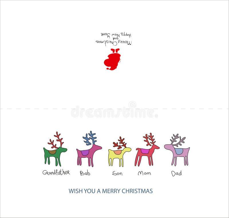 Calibre de carte de Noël de vecteur illustration libre de droits