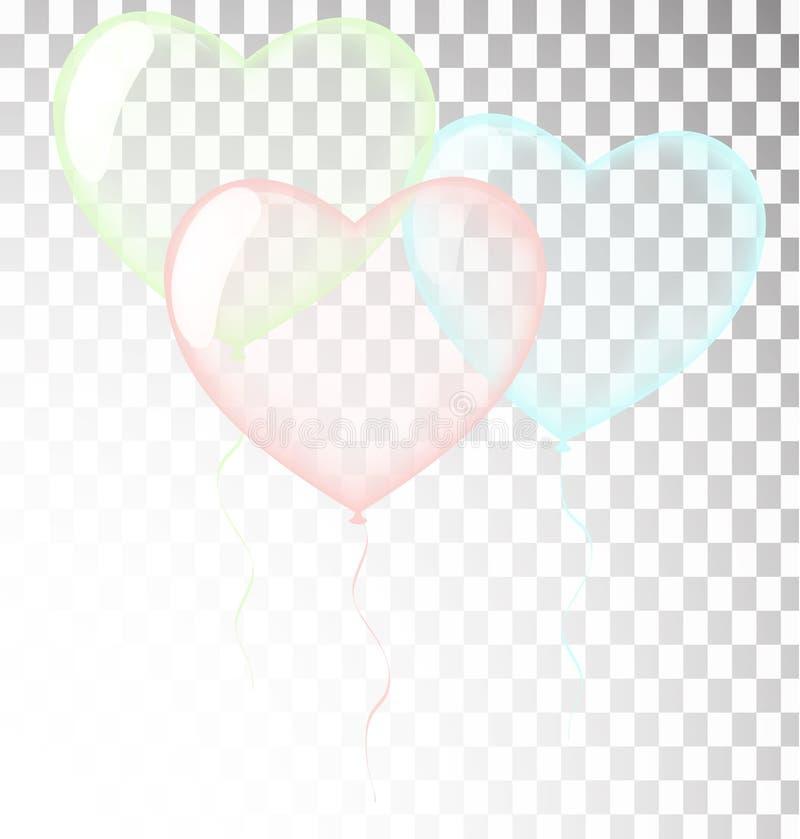 Calibre de carte de voeux de joyeux anniversaire avec le confett de fête de couleur illustration de vecteur