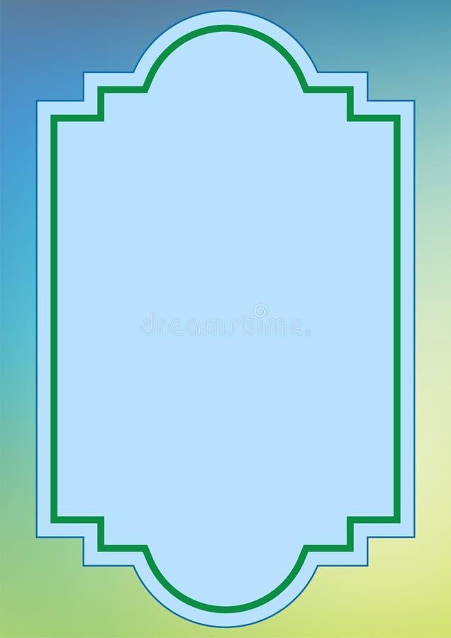 Calibre de certificat, certificat d'appréciation illustration de vecteur