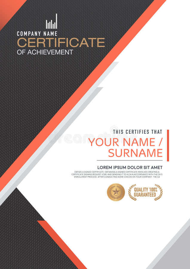 Calibre de certificat de vecteur illustration stock