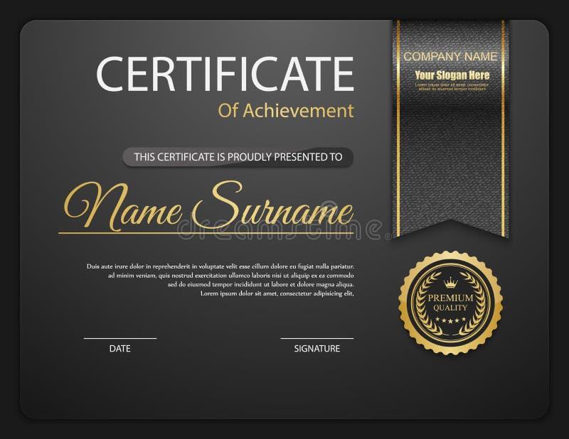 Calibre de certificat de vecteur illustration de vecteur