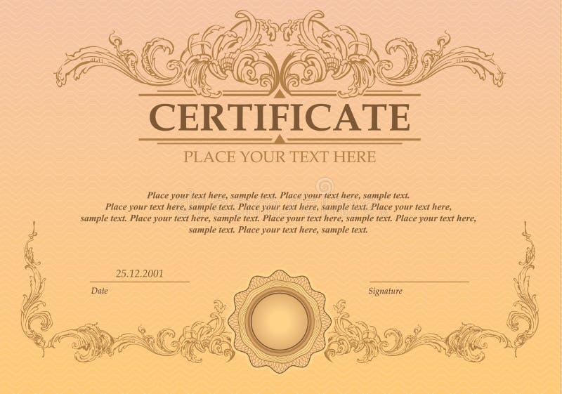 Calibre de certificat ou de bon illustration stock