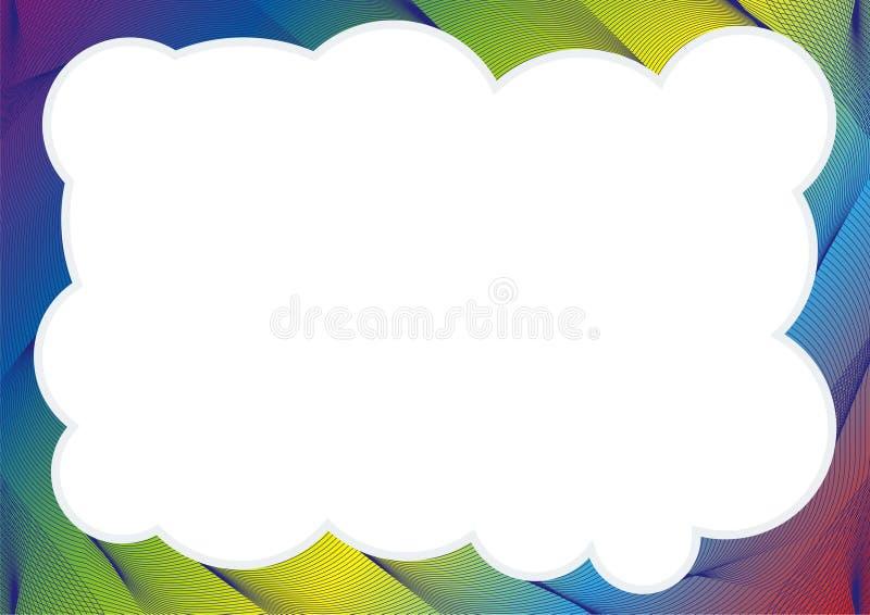 Calibre de certificat ou de diplôme avec le cadre d'arc-en-ciel illustration libre de droits