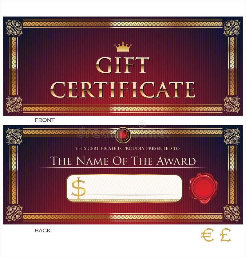 Calibre de chèque-cadeaux illustration de vecteur