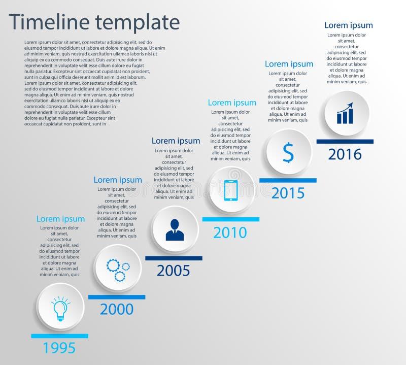 Calibre de chronologie illustration stock