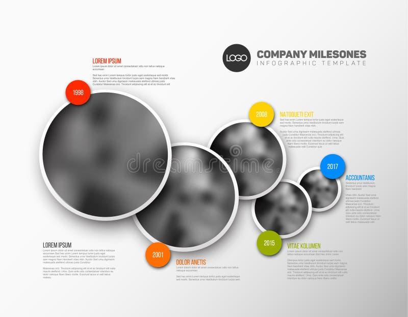 Calibre de chronologie d'Infographic avec des photos illustration stock