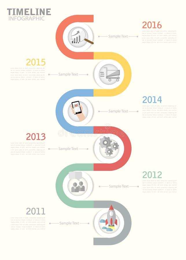 Calibre de chronologie pour le design d'entreprise, rapports, présentation d'étape illustration de vecteur