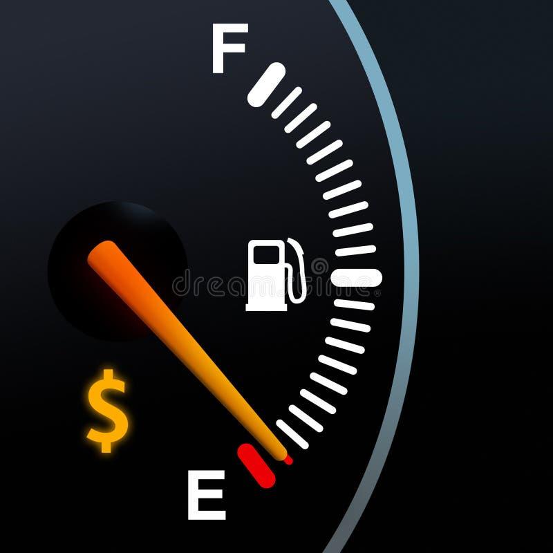 Calibre de combustível imagem de stock