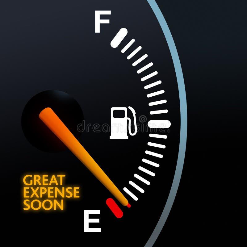 Calibre de combustível ilustração do vetor