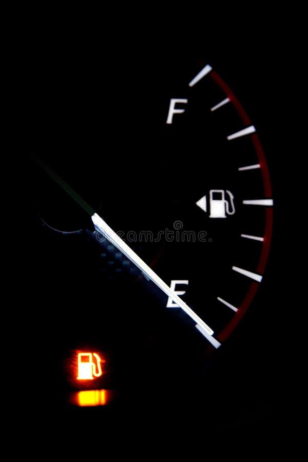 Calibre de combustível vazio imagens de stock royalty free