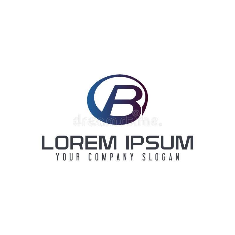 Calibre de concept de construction de logo de cercle de la lettre B illustration libre de droits