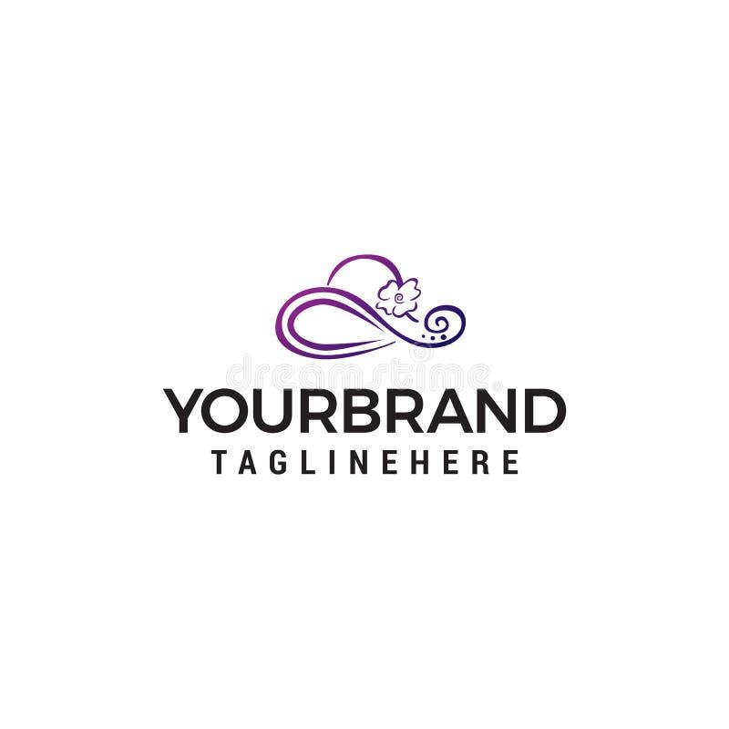 Calibre de concept de construction de logo de chapeau de femmes illustration libre de droits