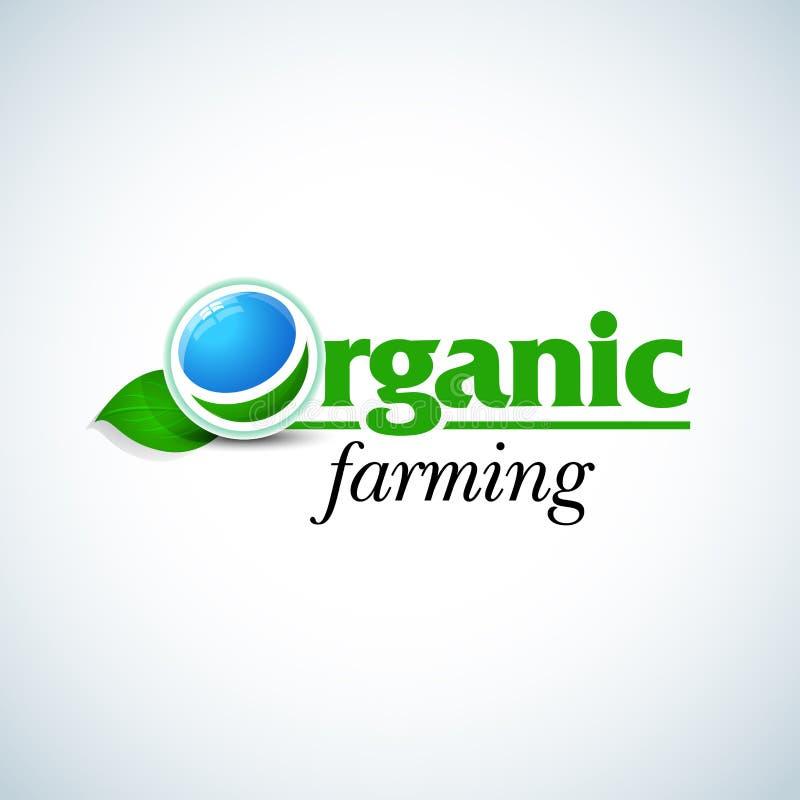 Calibre de concept de construction de logo d'agriculture biologique Calibre organique de Logotype Signe de produits frais organiq illustration libre de droits