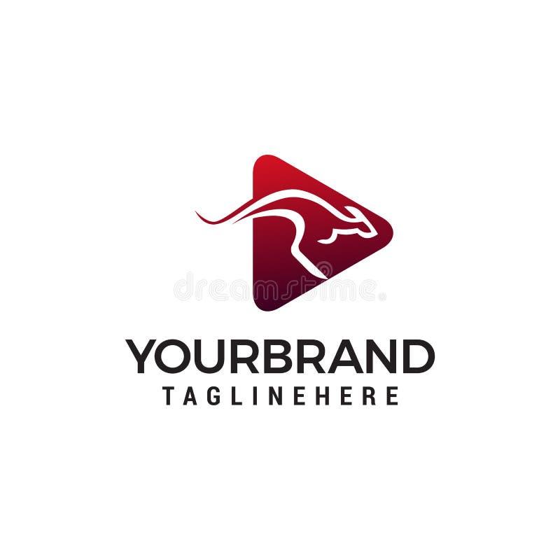 Calibre de concept de construction de logo de kangourou illustration de vecteur