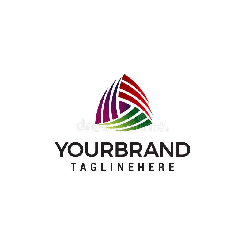 Calibre de concept de construction de logo de médias de Triangel illustration libre de droits