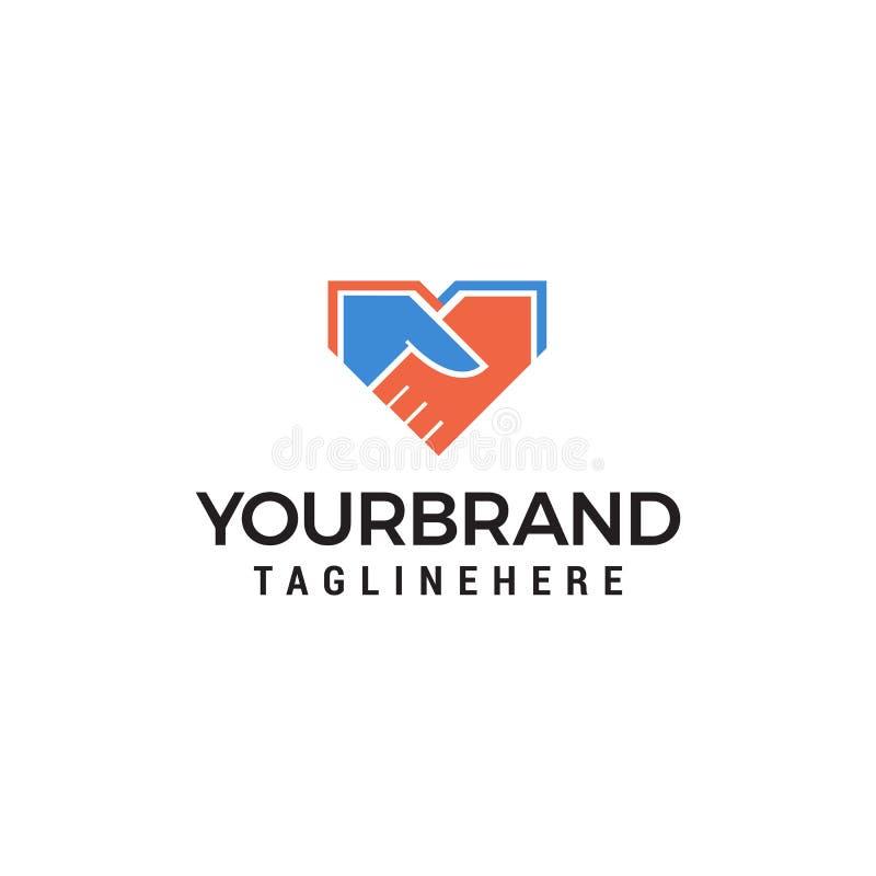 Calibre de concept de construction de logo de main de secousse illustration libre de droits