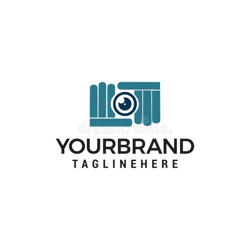 Calibre de concept de construction de logo de pousse de photographie de caméra illustration libre de droits