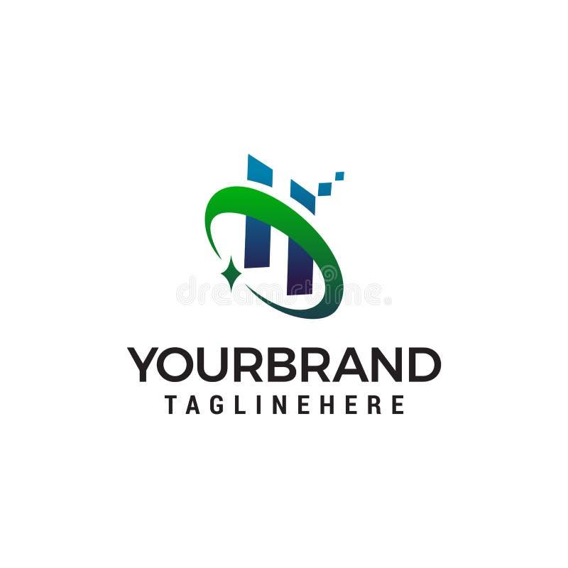Calibre de concept de construction de logo de technologie de la lettre H illustration libre de droits