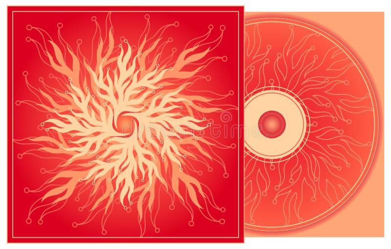 Couverture CD en rouge. illustration stock