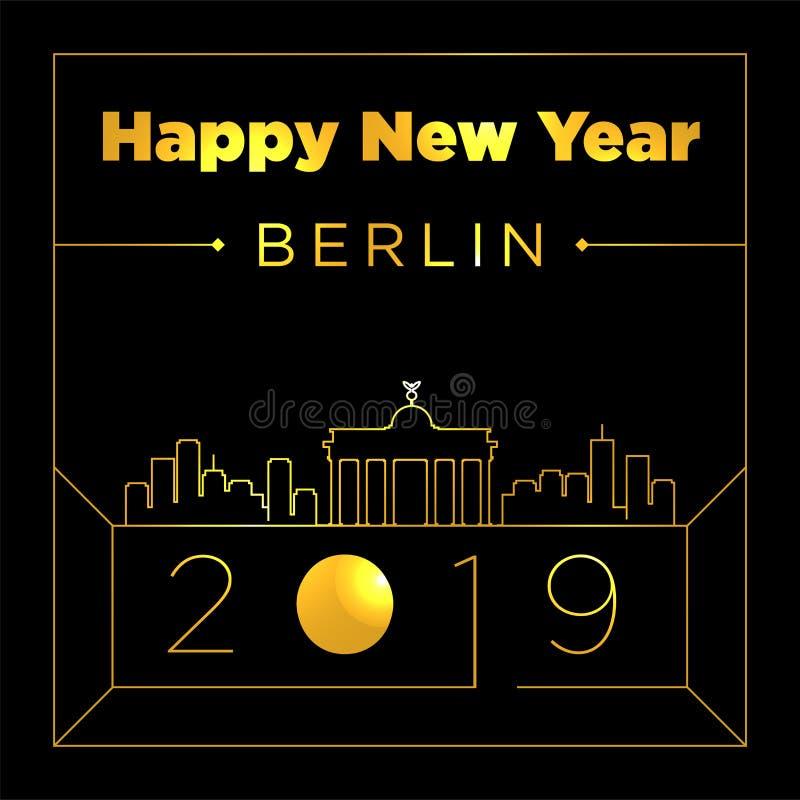 Calibre de conception de Berlin City New Year Card illustration libre de droits