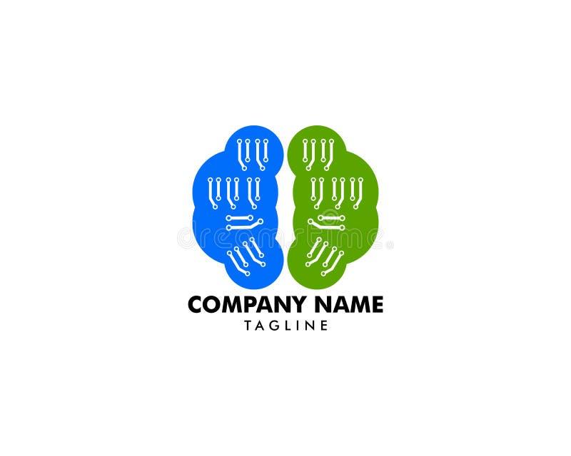Calibre de conception de Brain Tech Mind Data Logo illustration libre de droits