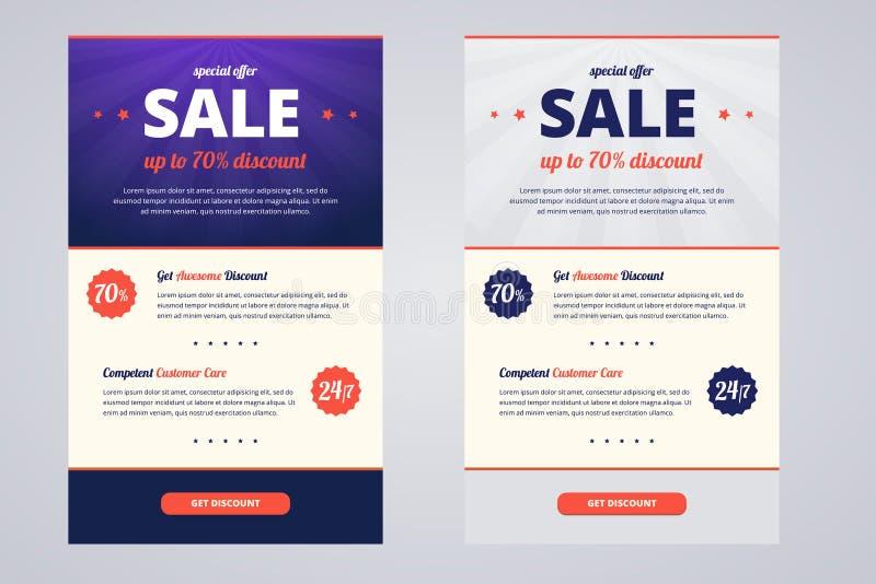 Calibre de conception de bulletin d'information à vendre illustration de vecteur
