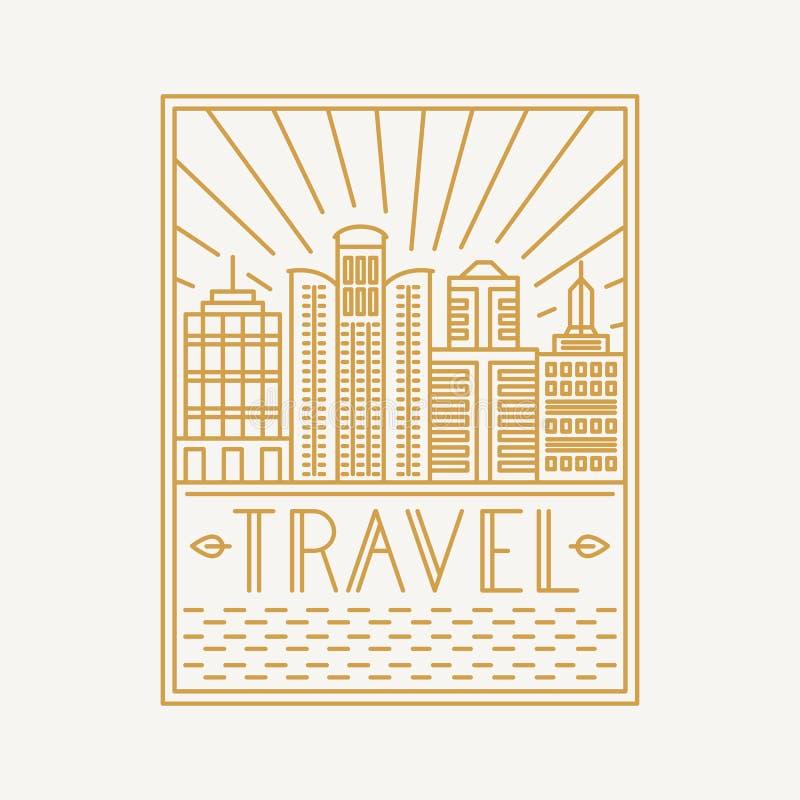 Calibre de conception d'affiche de voyage de vecteur illustration stock