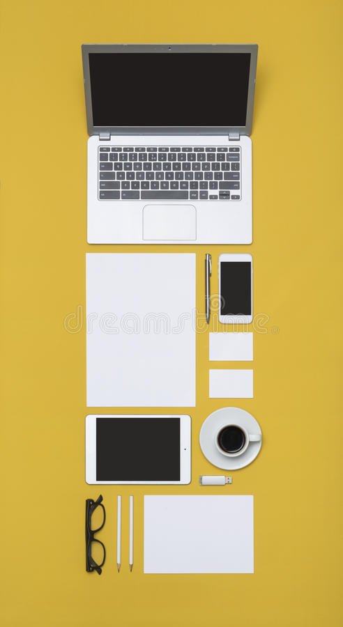 Calibre de conception d'en-tête de lettre et d'identité photographie stock