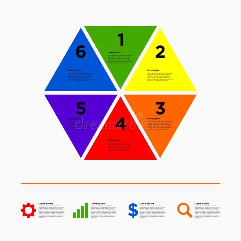 Calibre de conception d'Infographic illustration libre de droits