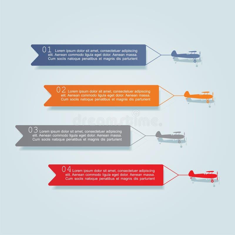 Calibre de conception d'Infographic avec des éléments et illustration stock