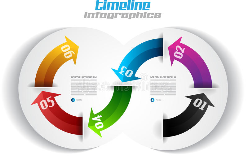 Calibre de conception d'Infographic avec les étiquettes de papier. illustration libre de droits