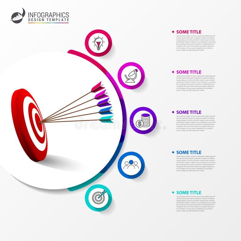 Calibre de conception d'Infographic Concept créatif avec 5 étapes illustration de vecteur