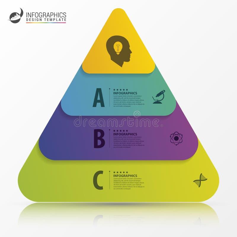 Calibre de conception d'Infographic Concept de pyramide Vecteur illustration stock